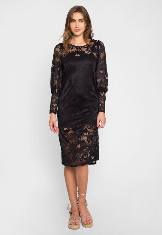 Lovely Lace Midi Dress alternate img #1