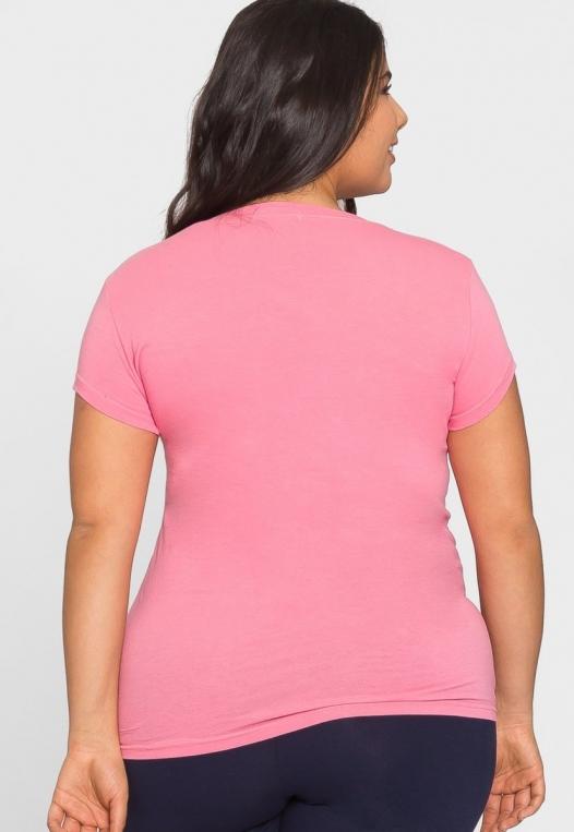 Plus Size Kelly Crew Neck Tee in Blush alternate img #3
