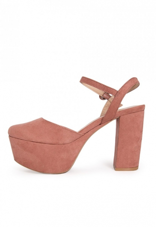 Abbott Ankle Strap Platform Heels in Light Pink alternate img #3