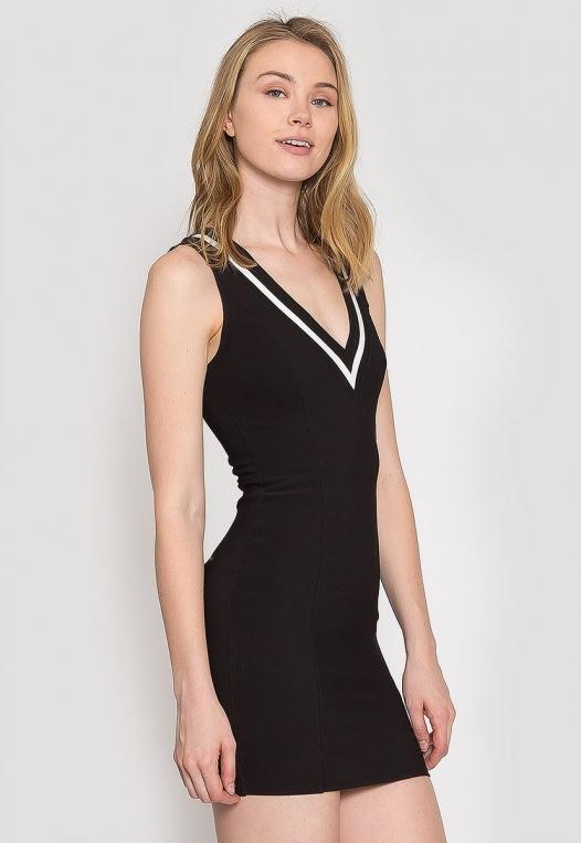 Pacific Varsity V-Neck Dress alternate img #3