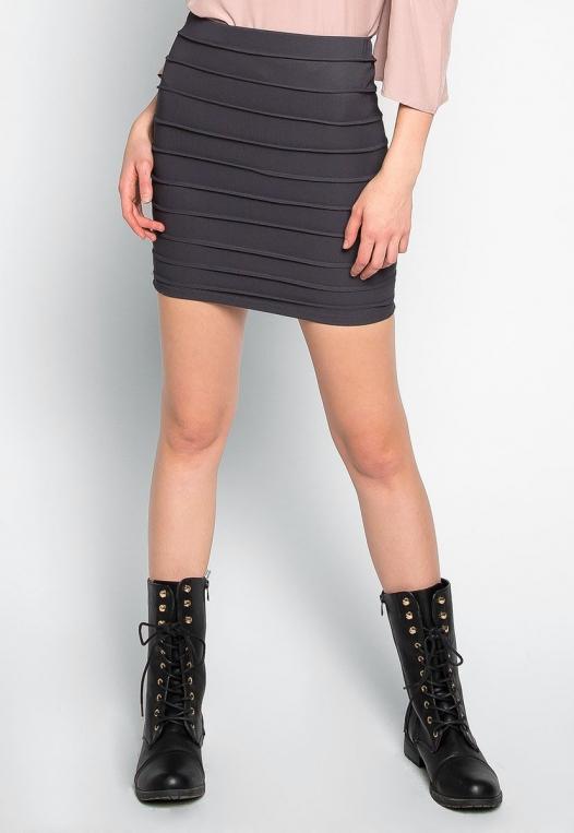 Keep a Secret Textured Mini Skirt alternate img #1