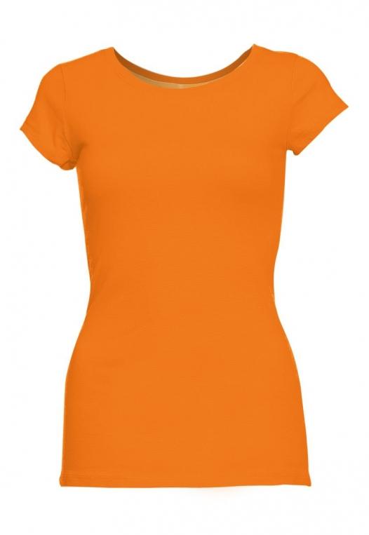 Venus Fitted Crew Neck Tee in Orange alternate img #7