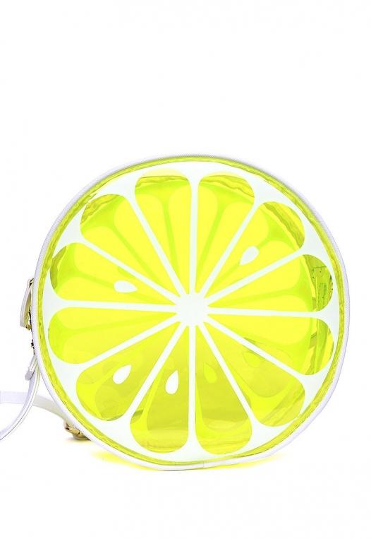 Juicy Printed Clear Canteen Bag in Lime alternate img #2