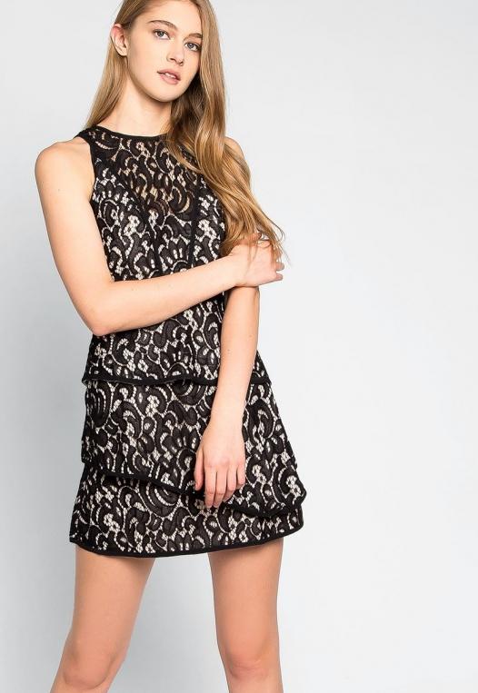 Fresh Roses Lace Mini Dress alternate img #5