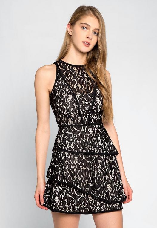 Fresh Roses Lace Mini Dress alternate img #1