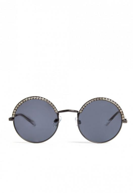 Kelly Rhinestone Round Sunglasses alternate img #2