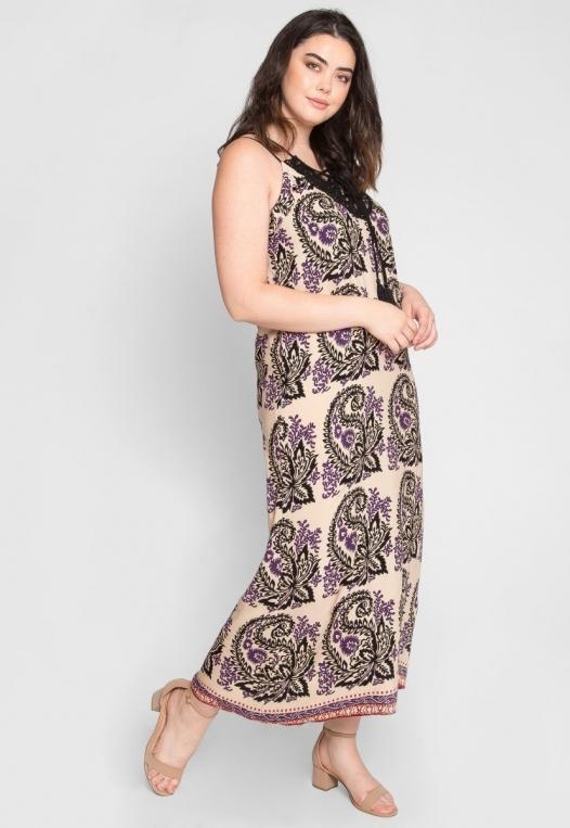 Plus Size Stevie Ornate Maxi Dress alternate img #2