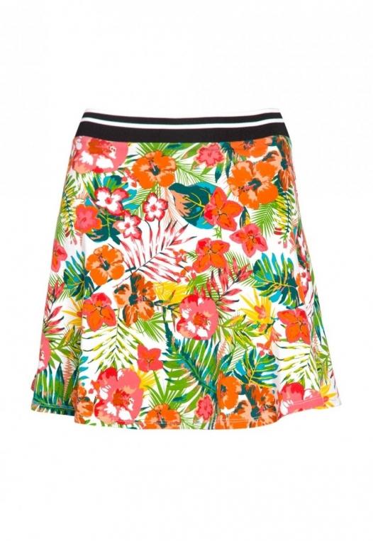 Halfmoon Tropic Print Flare Skirt alternate img #8