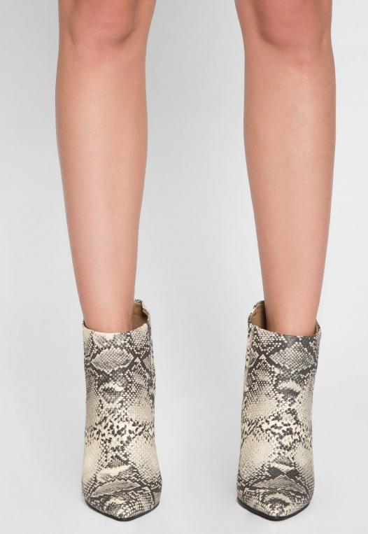 Wild Party Snakeskin Ankle Boots alternate img #2