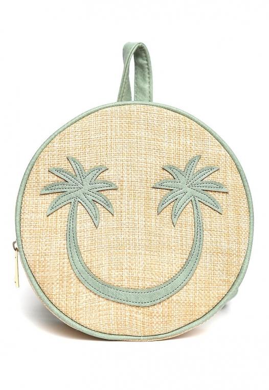All Smiles Sunny Straw Mini Backpack alternate img #2