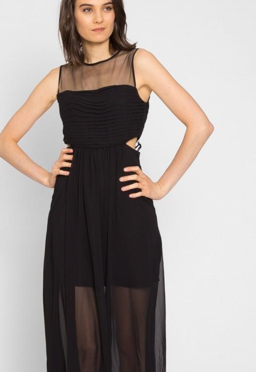 Shine Cut Out Chiffon Maxi Dress alternate img #5