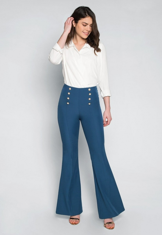 About You Pearl Button Flare Pants alternate img #4