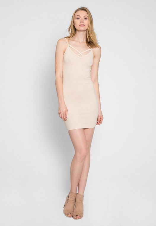 Day Out Knit Bodycon Dress in Beige alternate img #6