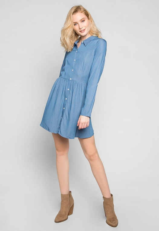 Remember Me Peplum Shirt Dress alternate img #4