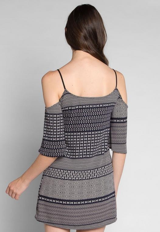 Good Vibes Printed Mini Dress alternate img #2