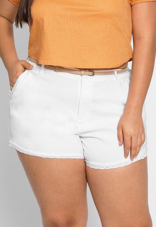 Plus Size Caribbean Crochet Trim Shorts alternate img #3