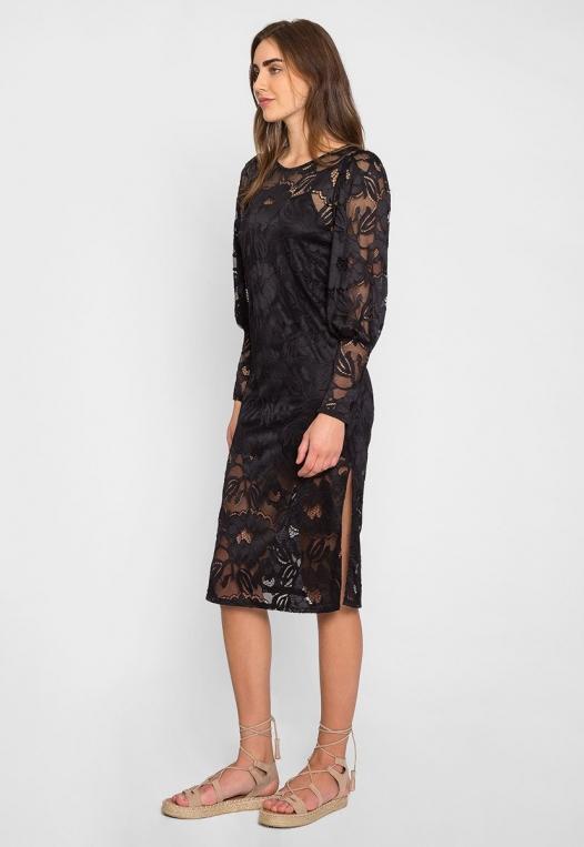 Lovely Lace Midi Dress alternate img #4