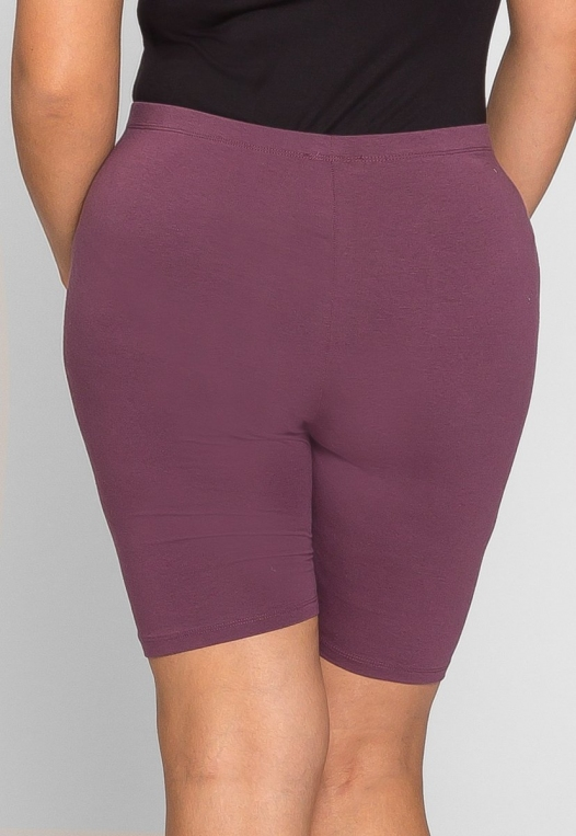 Plus Size Blake Biker Shorts in Cabernet alternate img #4