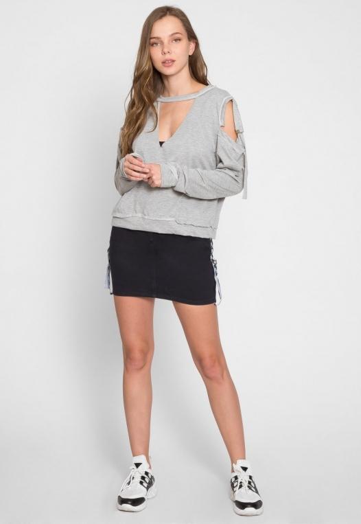 March Cold Shoulder Sweatshirt alternate img #5