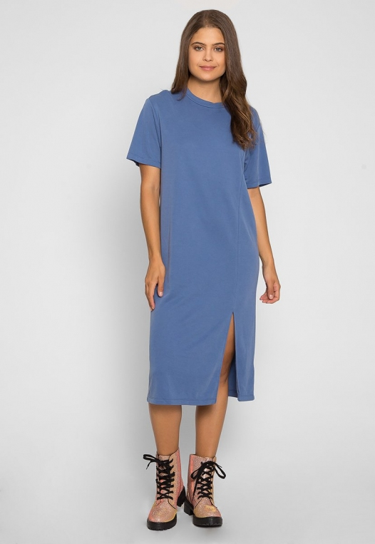 Make it Easy Slit Midi Dress alternate img #4
