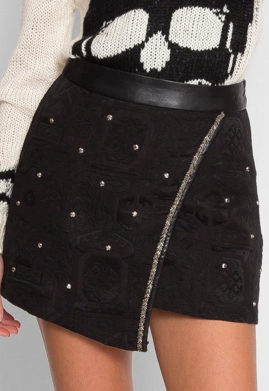 Star Studded Textured Mini Skirt alternate img #3