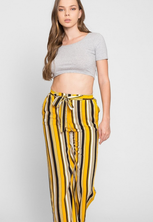 Sunsets High Waist Stripe Pants alternate img #5