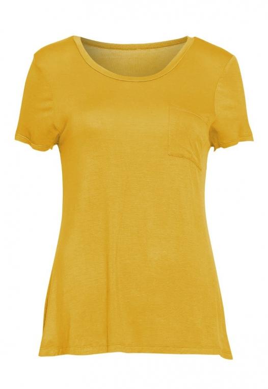 Oregon Oversized V-Neck Pocket Tee in Yellow alternate img #7