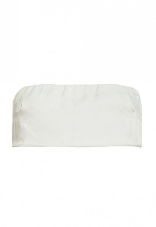 The Goods Satin Tube Top in White alternate img #7