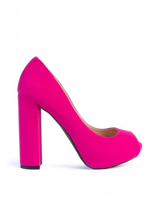 Statement Open Toe Block Pump Heels alternate img #1