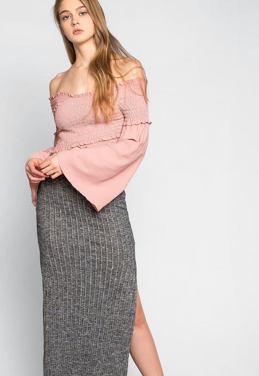 Hit The Ground Heathered Knit Maxi Skirt alternate img #5