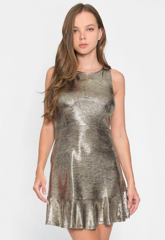 Ballroom Metallic Party Dress alternate img #3