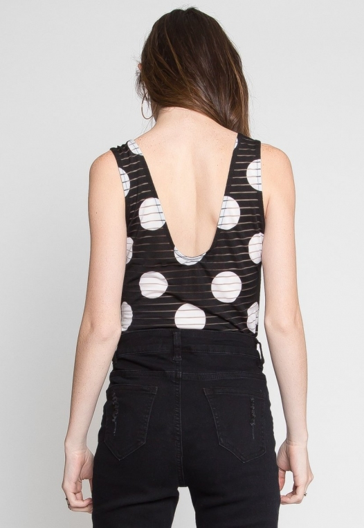 Connections Polka Dot Sheer Bodysuit alternate img #3