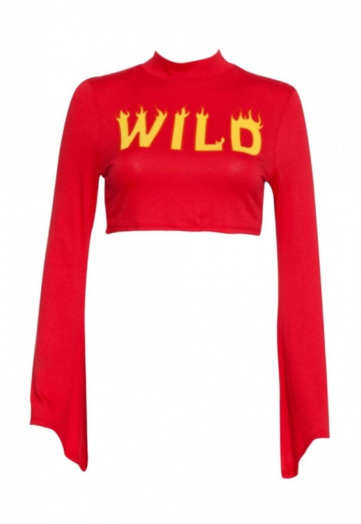 On Fire Wild Graphic Tee in Red alternate img #7