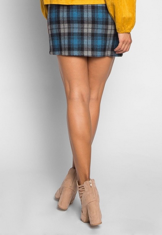 Back to College Plaid Flannel Skirt alternate img #2