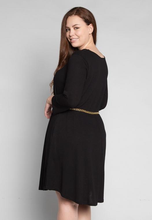 Plus Size Vancouver Dress in Black alternate img #2