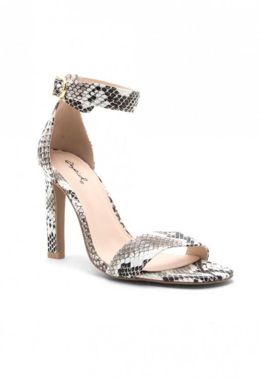 Soleil Snakeskin Ankle Strap Heels alternate img #4