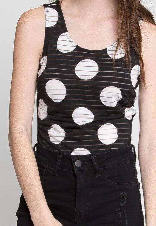 Connections Polka Dot Sheer Bodysuit alternate img #6
