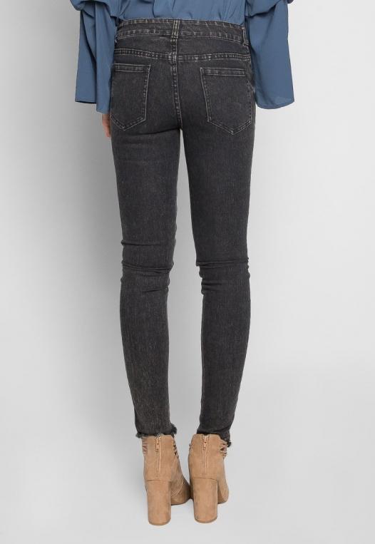 Bittersweet Sequin Insert Skinny Jeans in Black alternate img #2