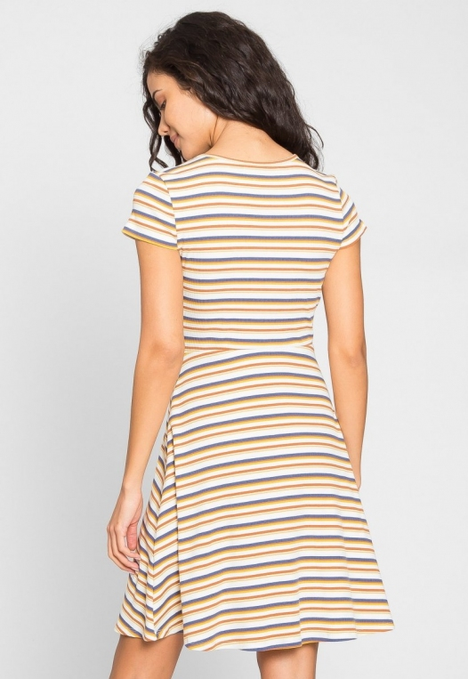 Sunday Afternoon Multi Stripe Skater Dress alternate img #4