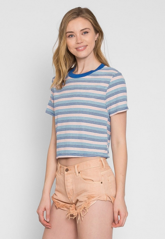 Swirl Stripe Crop Top alternate img #4