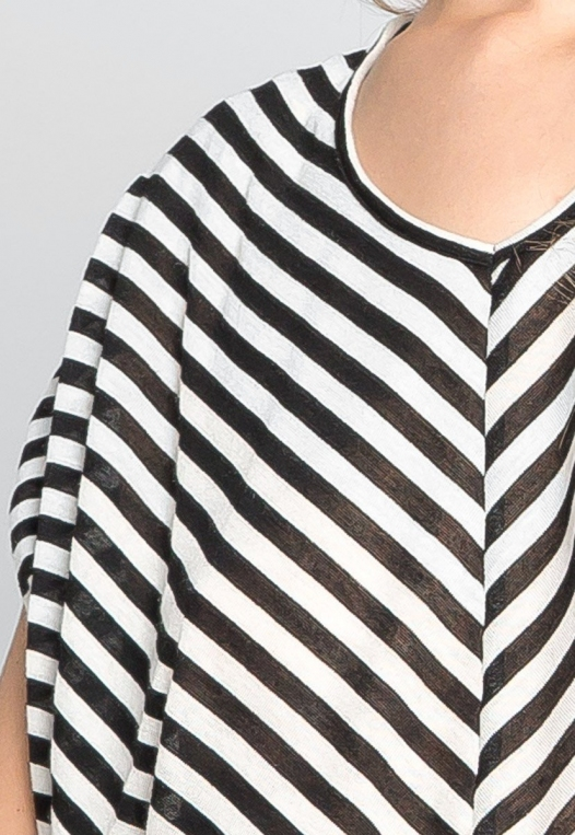 Snowdrop Striped Knit Top in Black alternate img #6