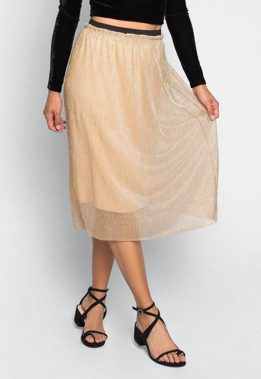 Treasure Metallic Midi Skirt alternate img #1