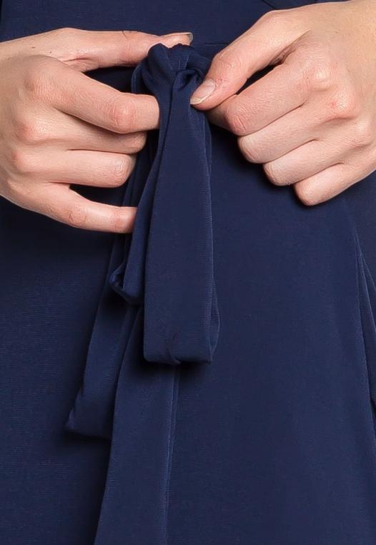 Katherine Wrap Maxi Dress in Navy alternate img #6