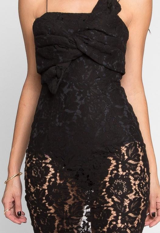 Atlantic Lace Front Tie Dress alternate img #6