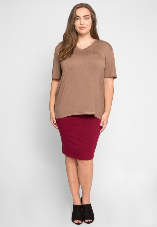 Plus Size Greatest Boxy Tee in Mocha alternate img #4
