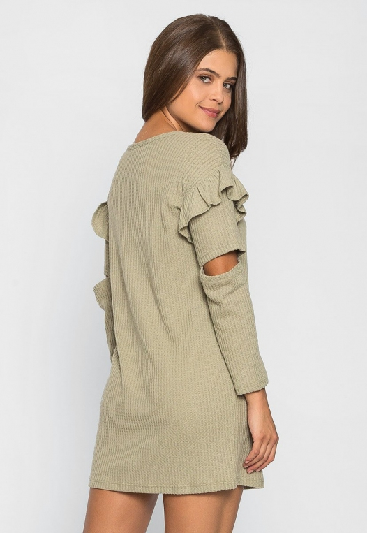 Milkshake Knit Dress in Sage alternate img #2