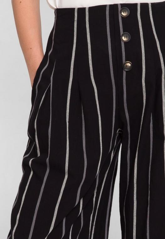 Granada Button Front Stripe Culottes alternate img #7
