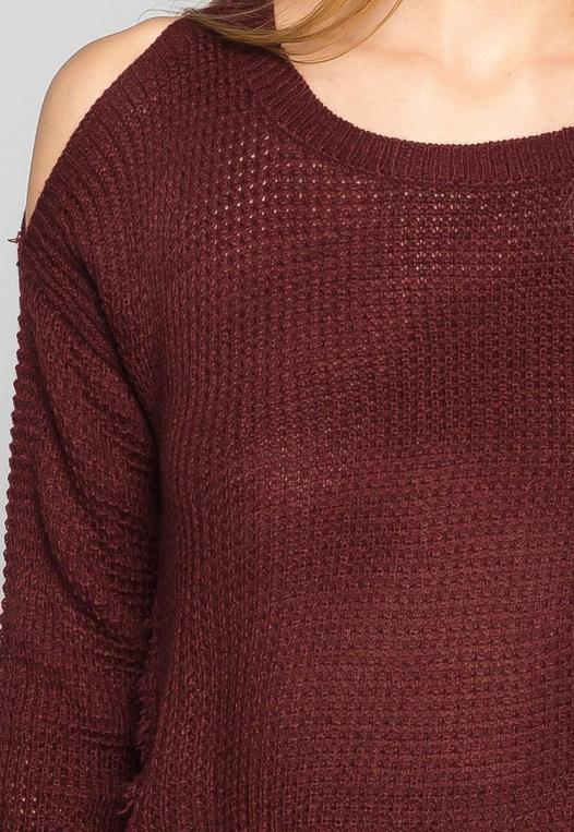 Girls Like You Pullover Sweater in Burgundy alternate img #6