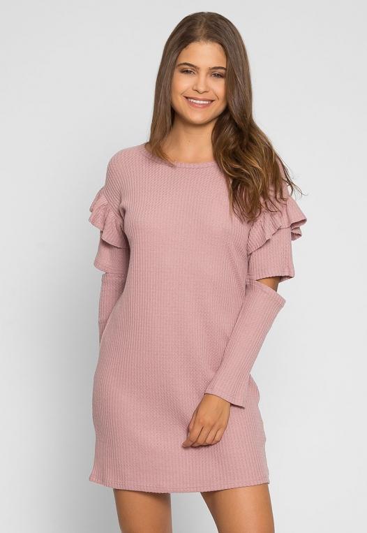 Milkshake Knit Dress in Light Pink alternate img #2