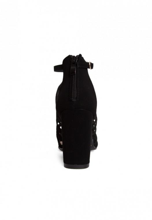 Farrow Laser Cut Ankle Boots in Black alternate img #2